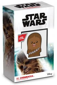 Gallery Image of Chewbacca 1oz Silver Coin Silver Collectible