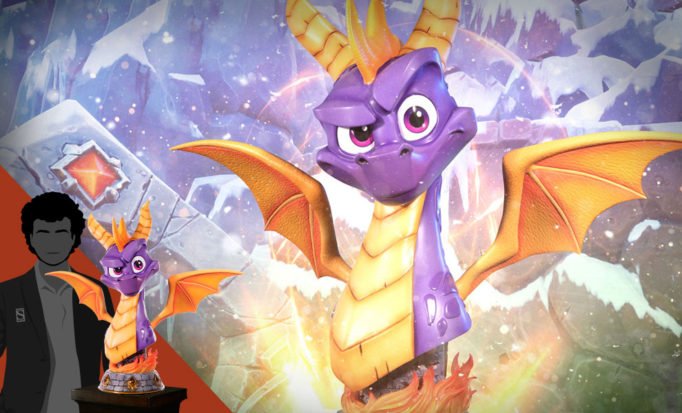Gallery Feature Image of Spyro Life-Size Bust - Click to open image gallery
