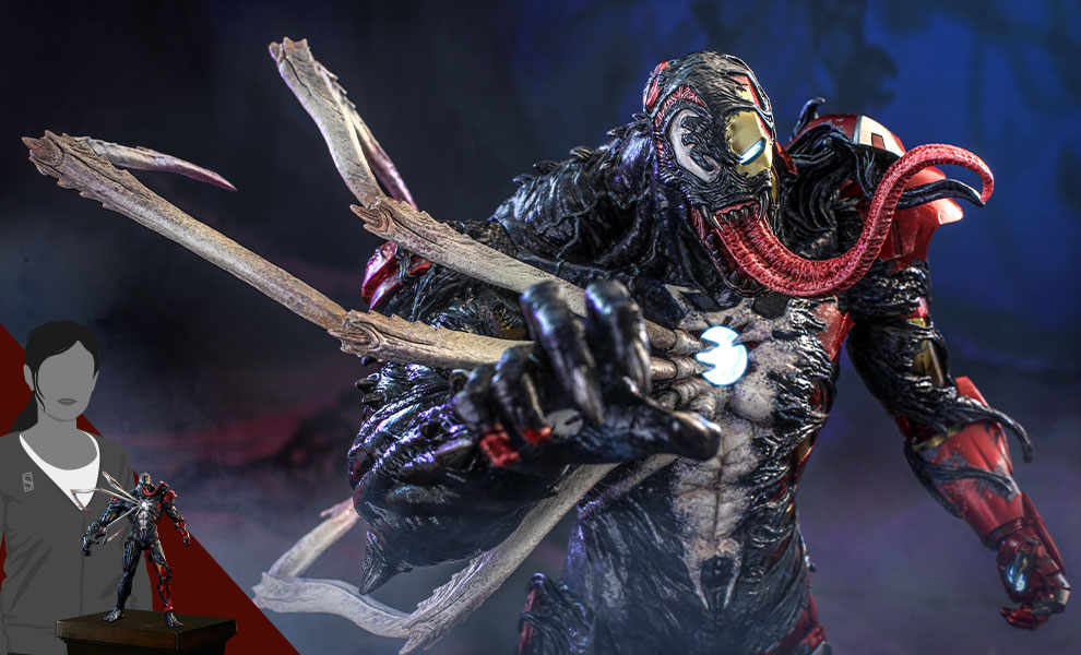 Gallery Feature Image of Venomized Iron Man Sixth Scale Figure - Click to open image gallery