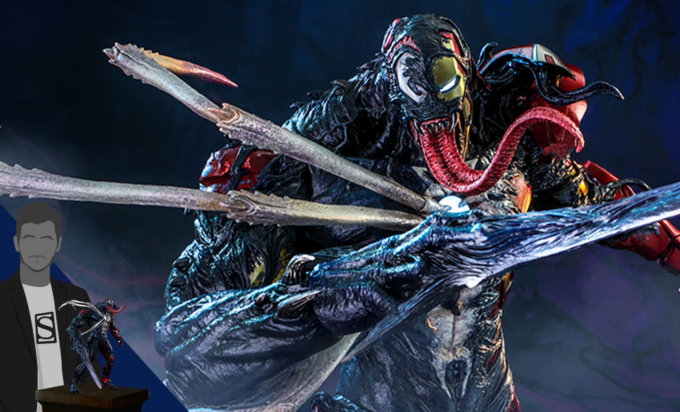 Gallery Feature Image of Venomized Iron Man (Special Edition) Sixth Scale Figure - Click to open image gallery