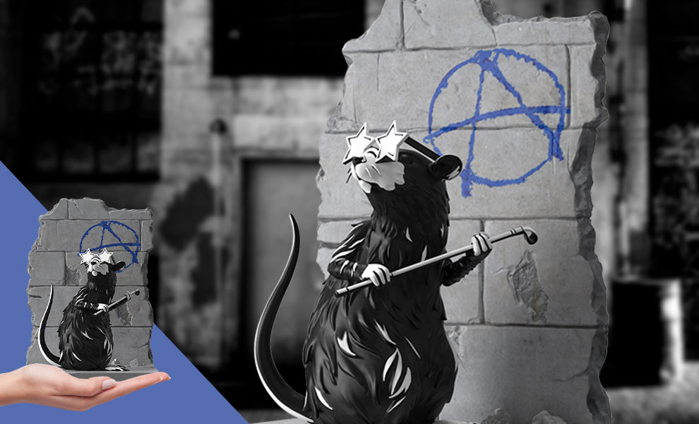 Gallery Feature Image of Anarchy Rat Polystone Statue - Click to open image gallery