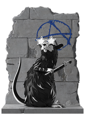 Anarchy Rat Polystone Statue