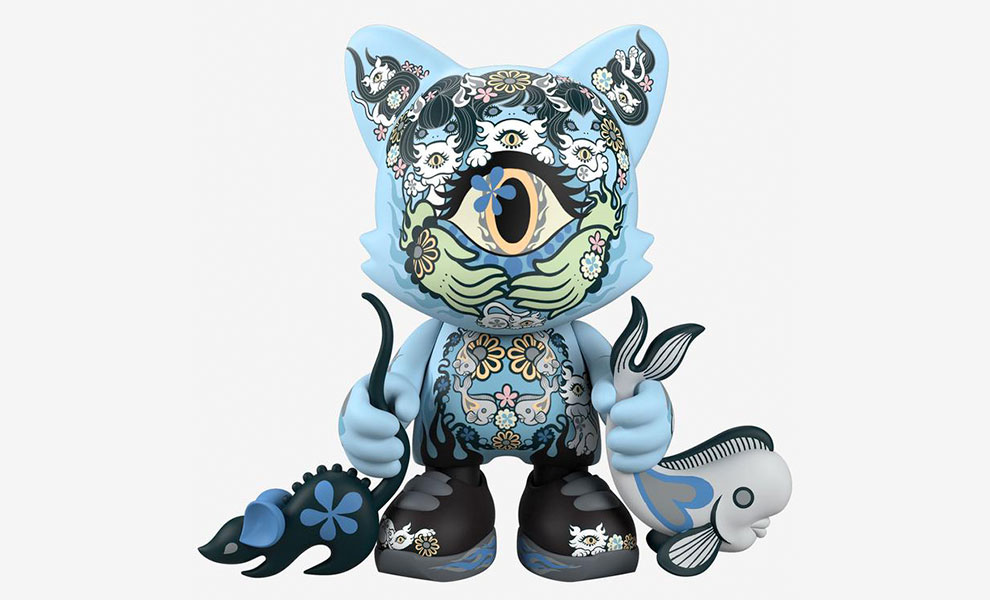 Gallery Feature Image of Azure Ailurophile SuperJanky Designer Collectible Toy - Click to open image gallery