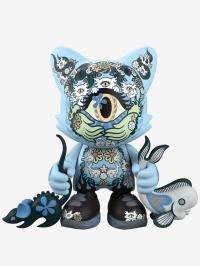 Gallery Image of Azure Ailurophile SuperJanky Designer Collectible Toy