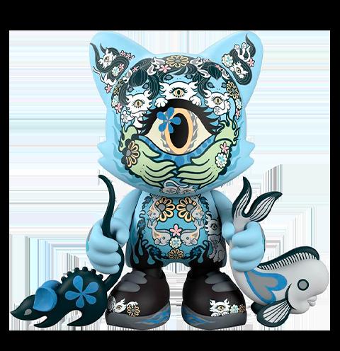Superplastic Azure Ailurophile SuperJanky Designer Collectible Toy