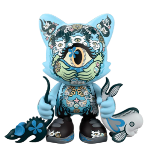 Azure Ailurophile SuperJanky Designer Collectible Toy