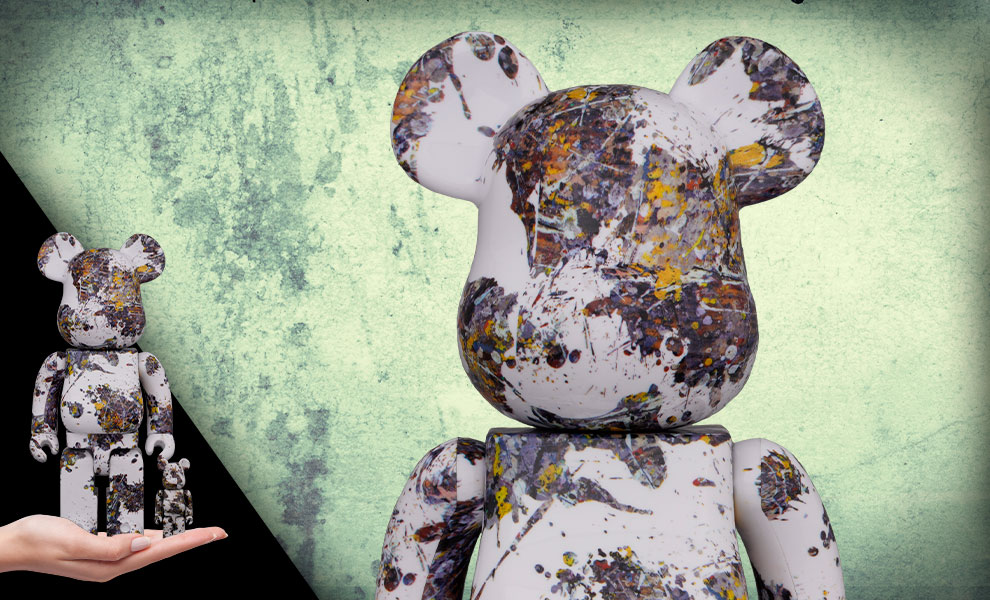 Gallery Feature Image of Be@rbrick Jackson Pollock Studio (SPLASH) 100% & 400% Collectible Set - Click to open image gallery