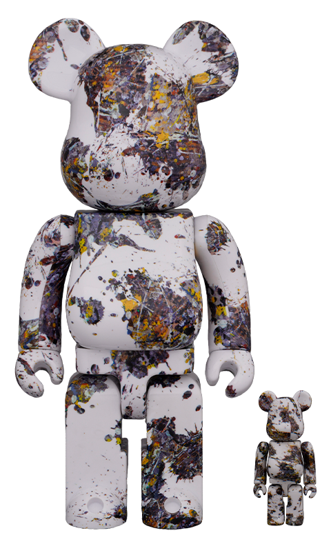 Medicom Toy Be@rbrick Jackson Pollock Studio (SPLASH) 100% & 400% Collectible Set