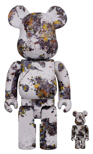 Be@rbrick Jackson Pollock Studio (SPLASH) 100% & 400% Collectible Set