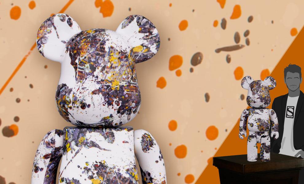 Gallery Feature Image of Be@rbrick Jackson Pollock Studio (Splash) 1000% Bearbrick - Click to open image gallery