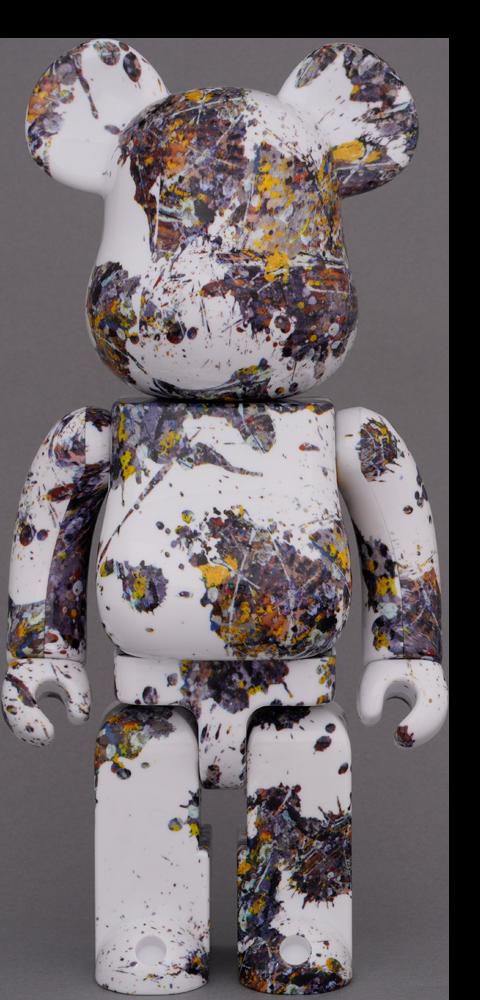 Medicom Toy Be@rbrick Jackson Pollock Studio (Splash) 1000% Bearbrick