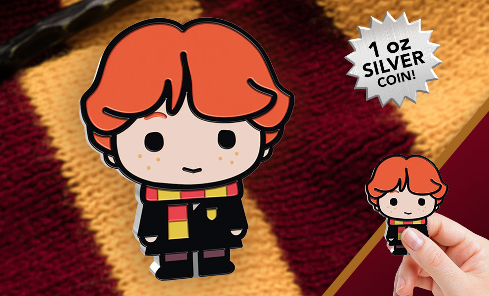 Gallery Feature Image of Ron Weasley 1oz Silver Coin Silver Collectible - Click to open image gallery