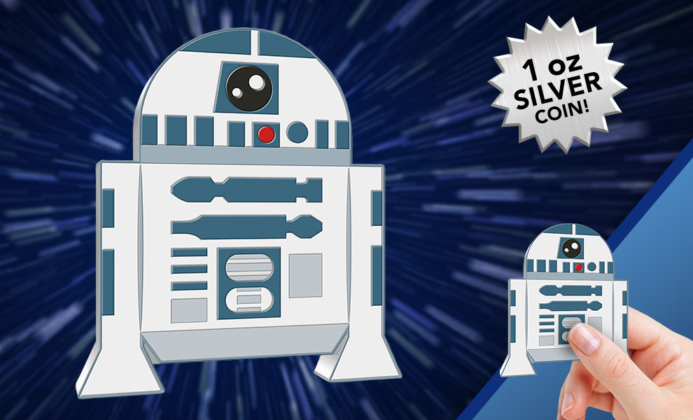 Gallery Feature Image of R2-D2 1oz Silver Coin Silver Collectible - Click to open image gallery
