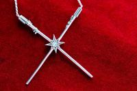 Gallery Image of Luke Skywalker™ & Darth Vader™  Crossed Lightsaber Necklace Jewelry