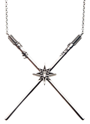 Luke Skywalker™ & Darth Vader™  Crossed Lightsaber Necklace Jewelry
