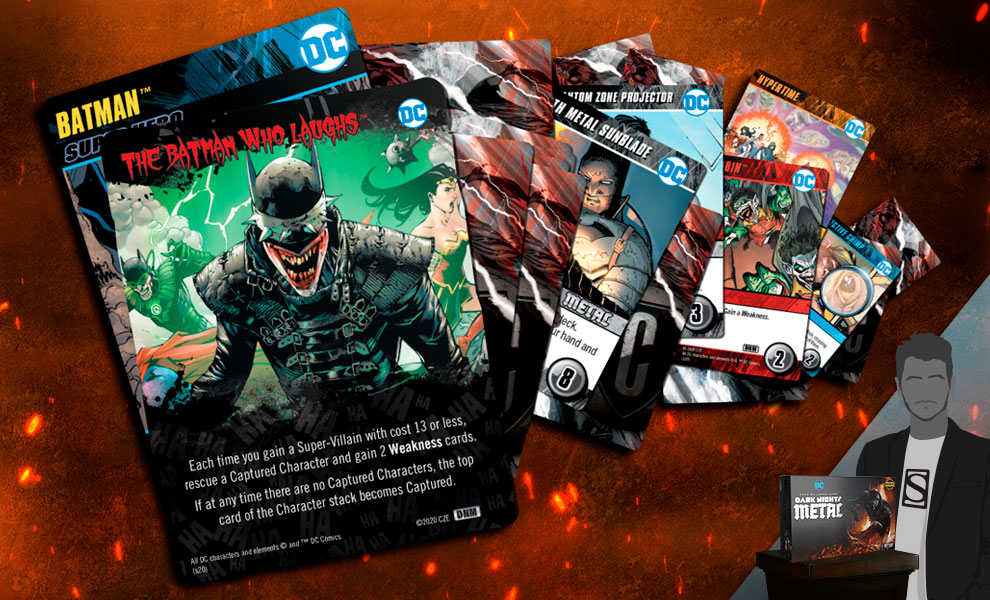Gallery Feature Image of DC Deck Building Game: Dark Nights: Metal Playing Cards - Click to open image gallery