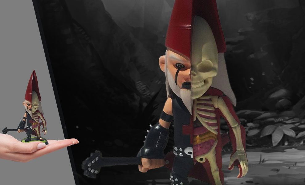 """Gallery Feature Image of Ragnar """"The Metal Gnome"""" Hellstrummer Gnomeboys Anatomic Polystone Statue - Click to open image gallery"""