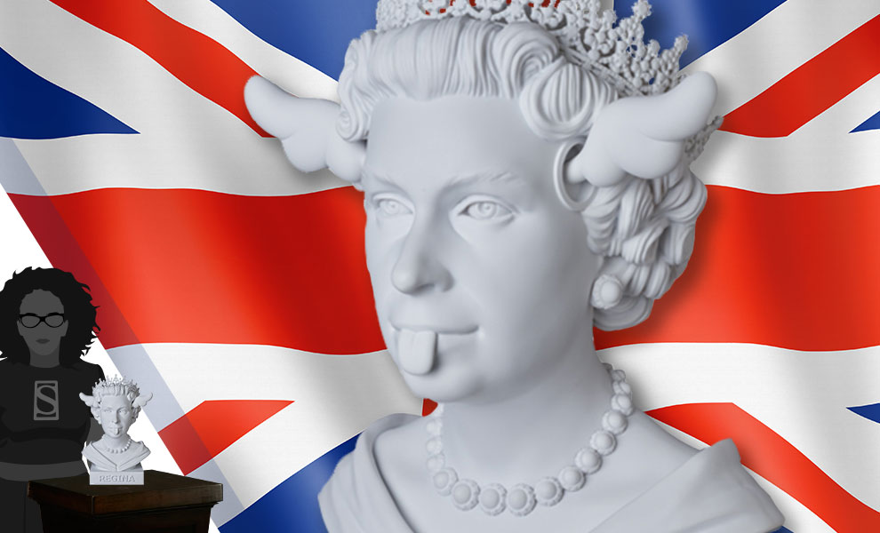 Gallery Feature Image of Dog Save the Queen Statue - Click to open image gallery