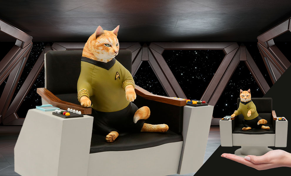 Gallery Feature Image of James T. Kirk Cat Statue - Click to open image gallery