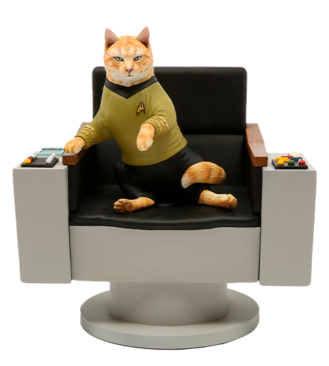 Chronicle Collectibles James T. Kirk Cat Statue