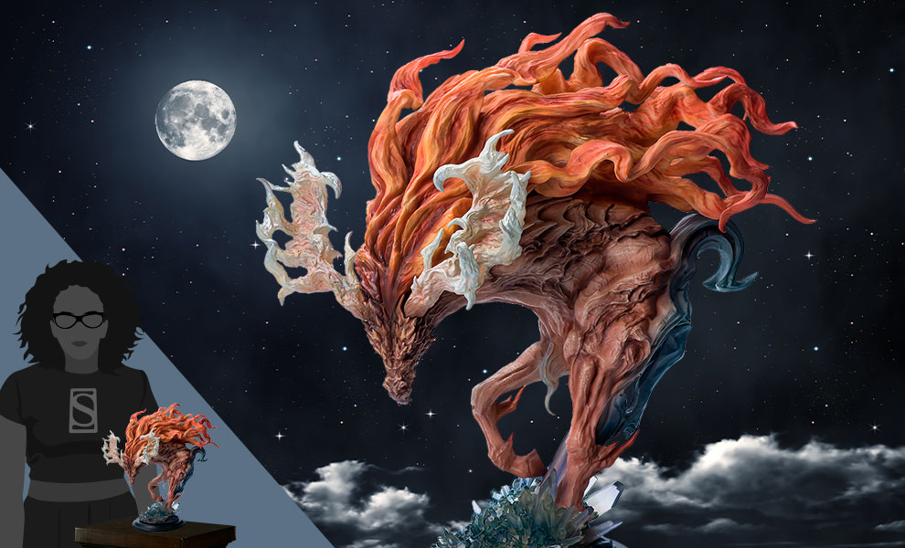 Gallery Feature Image of Fire Kirin Bust Statue - Click to open image gallery