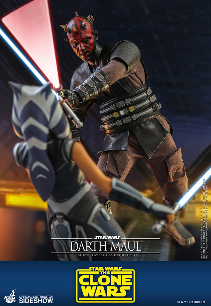 Metal Card Darth Maul de 1//6 Figure by Hot Toys DX16 Star wars sideshow