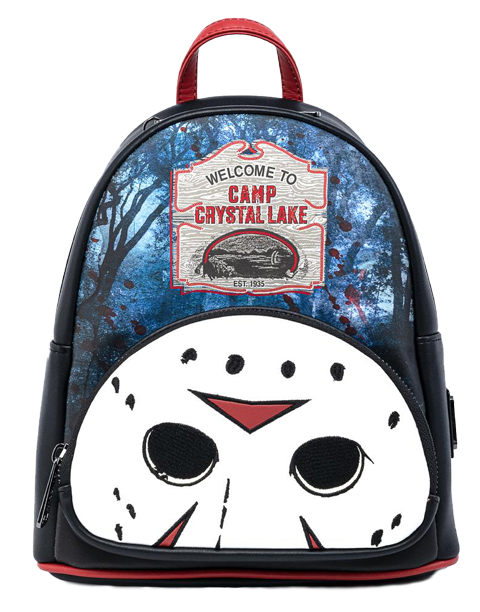 Loungefly Friday the 13th Camp Crystal Lake Mini Backpack Apparel