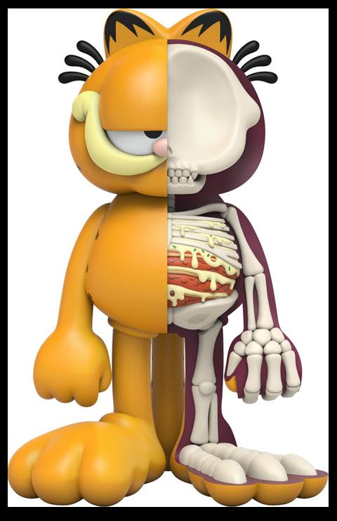 Mighty Jaxx XXRAY Plus: Garfield Collectible Figure