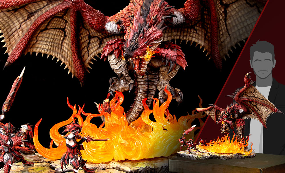 Gallery Feature Image of Rathalos: The Fiery Bundle Diorama - Click to open image gallery