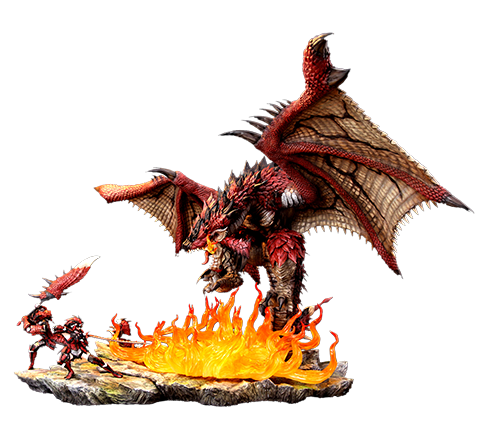 Kinetiquettes Rathalos: The Fiery Bundle Diorama