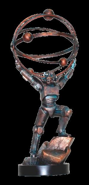Atomic Atlas Statue