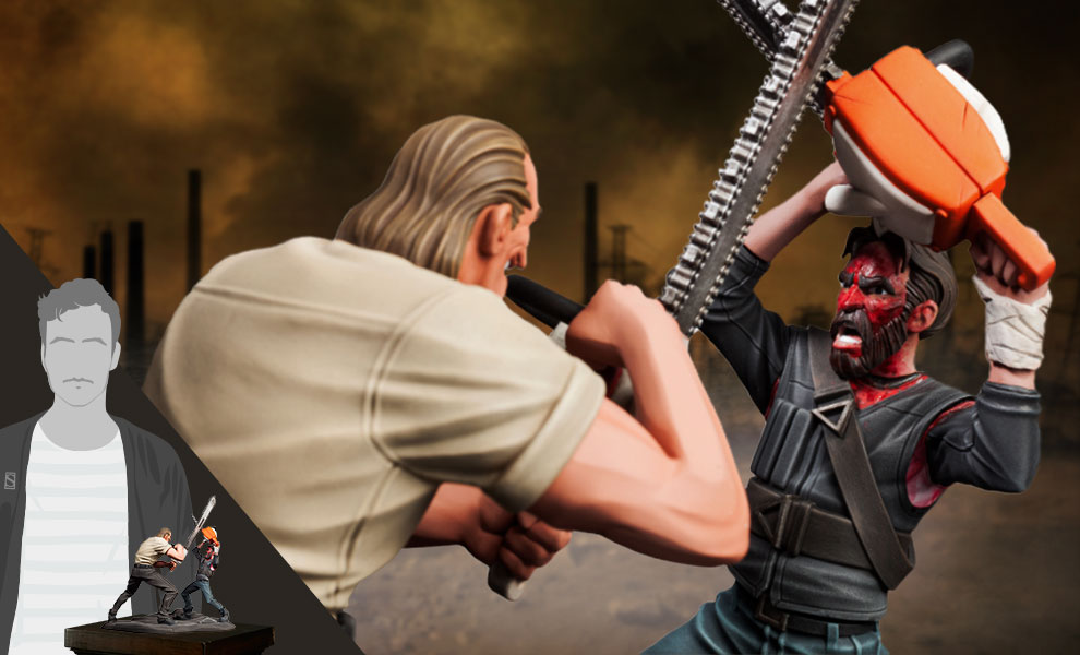 Gallery Feature Image of Mandy (Chainsaw Battle) Polystone Statue - Click to open image gallery