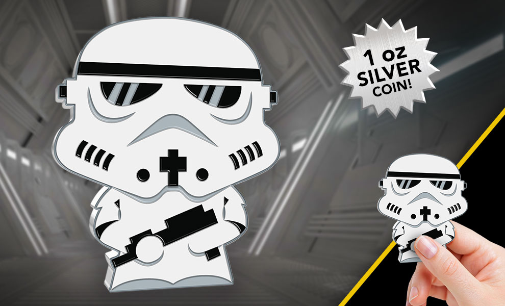 Gallery Feature Image of Stormtrooper 1oz Silver Coin Silver Collectible - Click to open image gallery