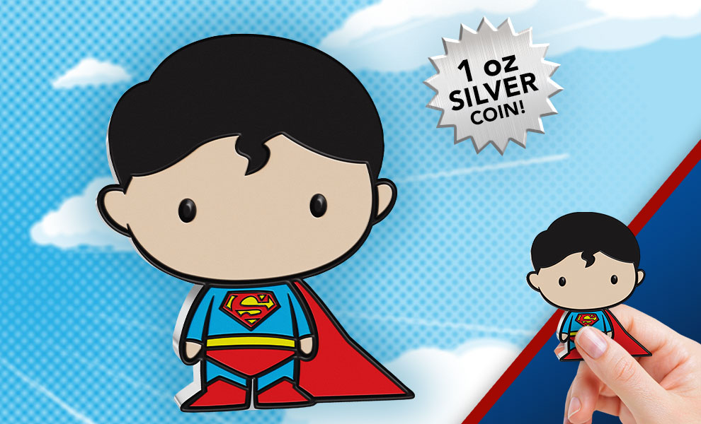 Gallery Feature Image of Superman 1oz Silver Coin Silver Collectible - Click to open image gallery