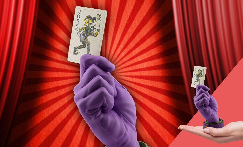 Gallery Feature Image of Joker's Calling Card Statue - Click to open image gallery