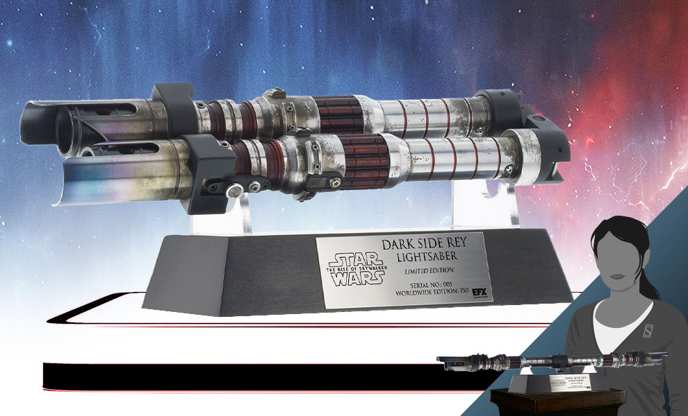 Gallery Feature Image of Dark Side Rey Lightsaber Prop Replica - Click to open image gallery