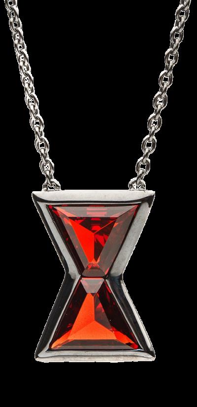 Black Widow Hourglass Necklace Jewelry