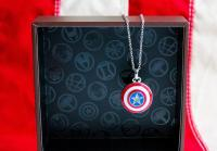 Gallery Image of Captain America Shield Necklace Jewelry