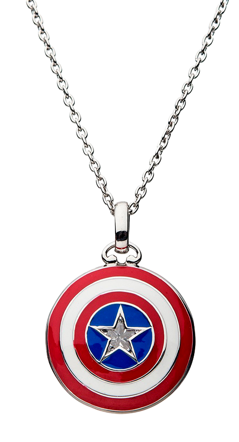 RockLove Captain America Shield Necklace Jewelry