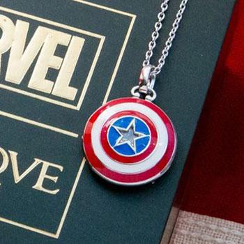 Captain America Shield Necklace Jewelry