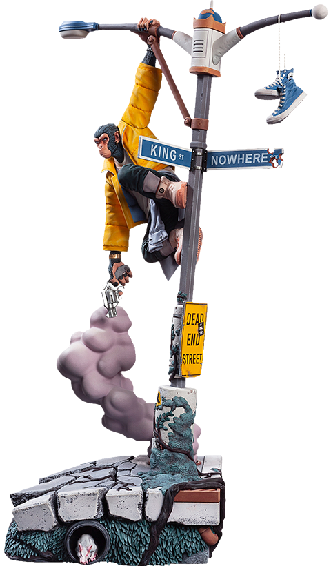 Level52 Studios Bili: The Angry Ape Polystone Statue