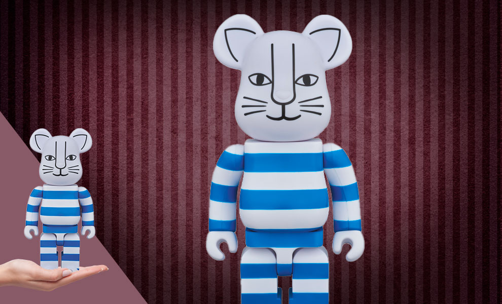 """Gallery Feature Image of Be@rbrick """"Mikey"""" (Blue Version) 400% Figure - Click to open image gallery"""
