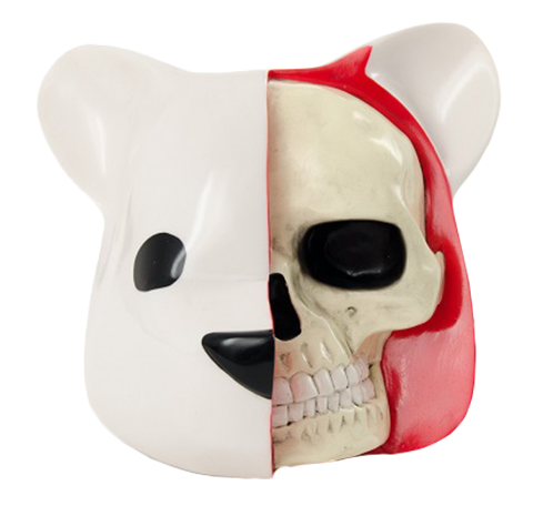 Clutter Studios Dissected Bear Head (White) Vinyl Collectible