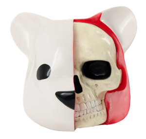 Dissected Bear Head (White) Vinyl Collectible