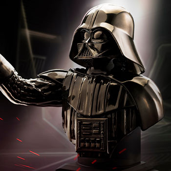 Darth Vader (Black) Bust Star Wars Pewter Collectible