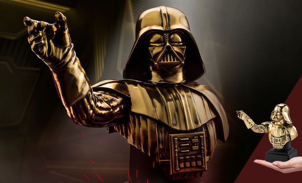 Gallery Feature Image of Darth Vader (Gilt) Bust Pewter Collectible - Click to open image gallery