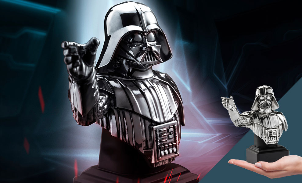 Gallery Feature Image of Darth Vader (Pewter) Bust Pewter Collectible - Click to open image gallery