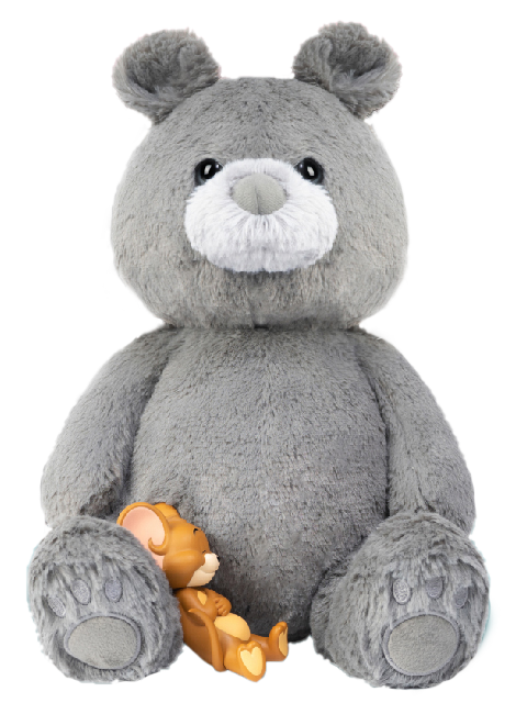 Soap Studio Tom and Jerry Plush Teddy Bear (Charcoal Gray) Collectible Figure