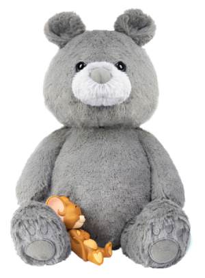 Tom and Jerry Plush Teddy Bear (Charcoal Gray) Collectible Figure