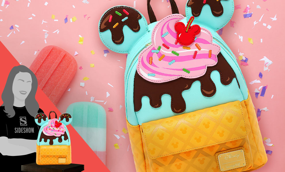 Gallery Feature Image of Mickey and Minnie Sweets Ice Cream Mini Backpack Apparel - Click to open image gallery